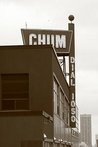 The old CHUM building on Yonge Street, Toronto